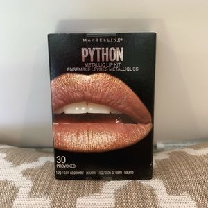 Maybelline python metallic lip kit NIB